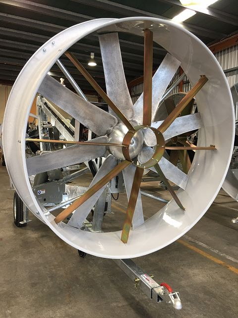 ALLOY FAN WITH STRAIGHTENING GUIDE VANES